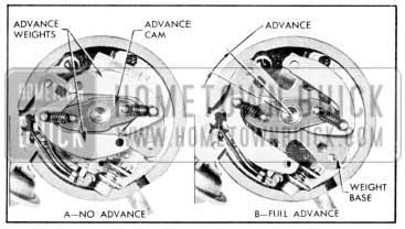 1957 Buick Centrifugal Advance Mechanism