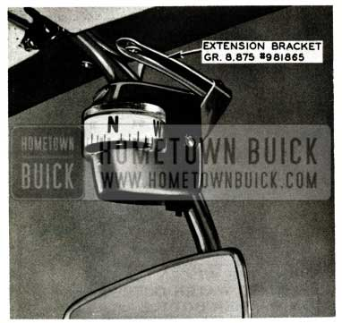 1957 Buick Compass Mounting