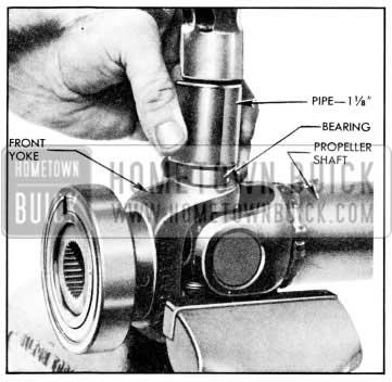 1957 Buick Displacing U-Joint Bearing
