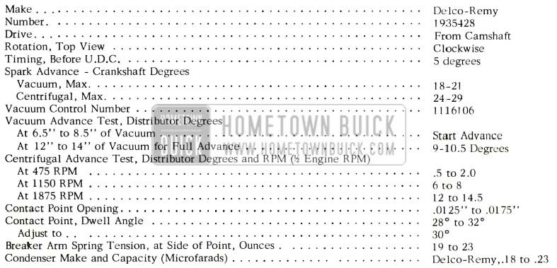 1957 buick electrical systems maintenance 1957 buick distributor specification