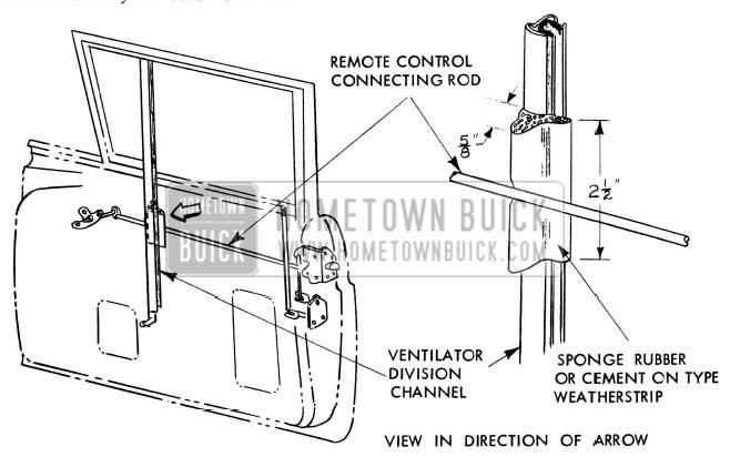 1957 Buick Door Lock Control Rod