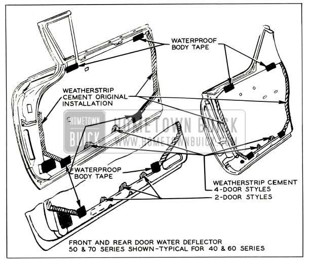 1957 Buick Door Water Deflector