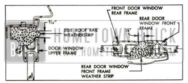 1957 Buick Door Window Right Frame
