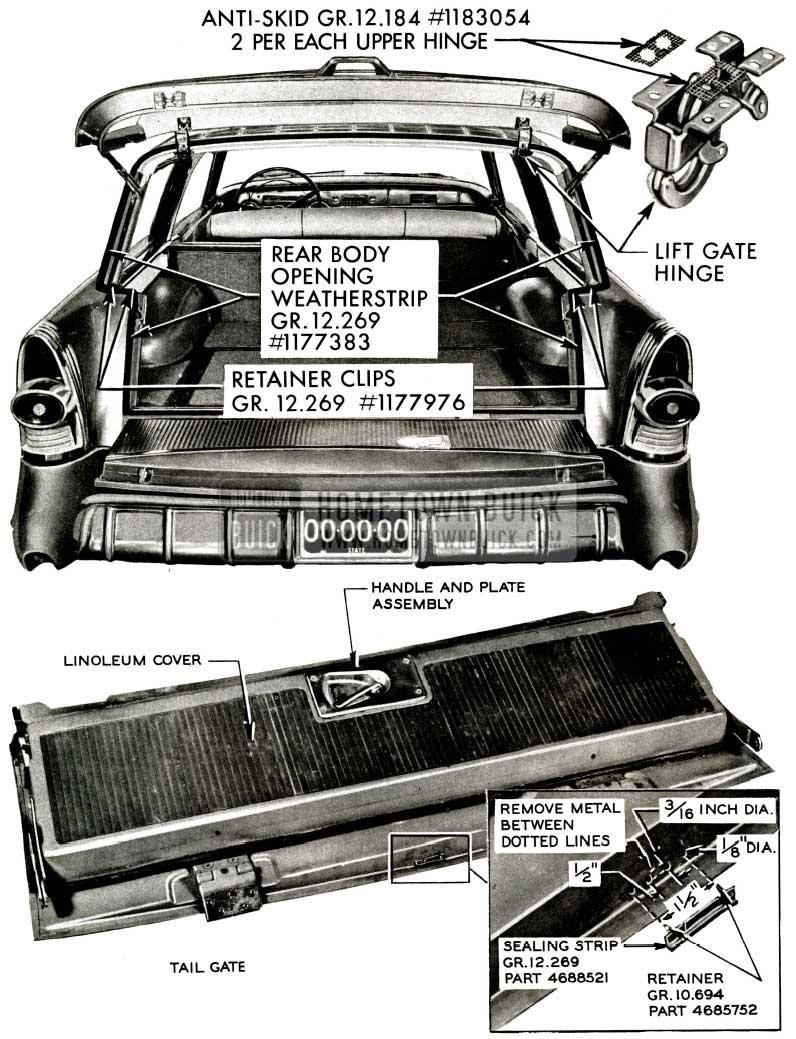 1957 Buick Estate Wagon Rear Opening