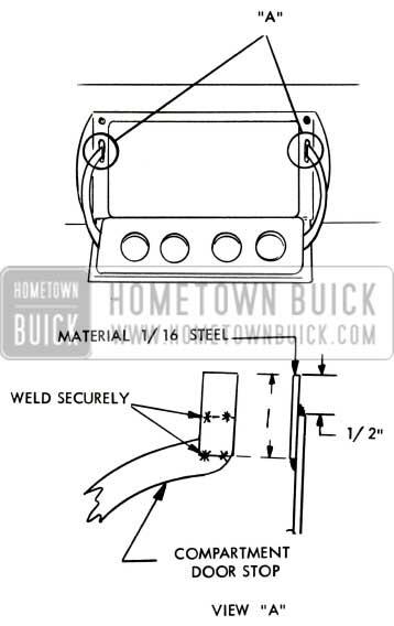 1957 Buick Glove Box Door Stop