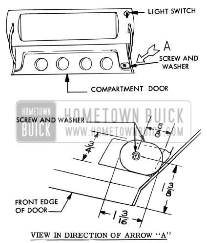 1957 Buick Glove Box Light Switch