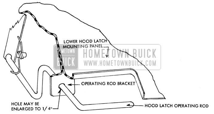1957 Buick Hood Operating Rod