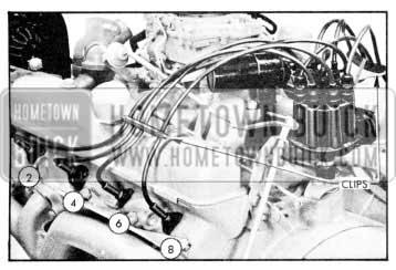 1957 Buick Installing Spark Plug Wires - Left Bank