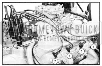 1957 Buick Installing Spark Plug Wires - Right Bank