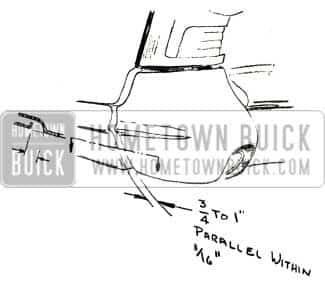 1957 Buick Rear Bumper Clearance