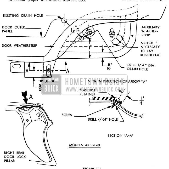 1957 Buick Rear Door Lock Pillar Repair