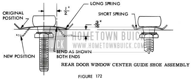 1957 Buick Rear Door Window Center Guide Shoe