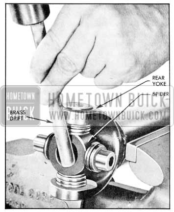 1957 Buick Removal of U-Joint Bearing
