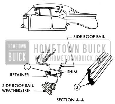 1957 Buick Side Roof Rail Weatherstrip