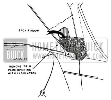 1957 Buick Wheelhouse Insulation Assembly