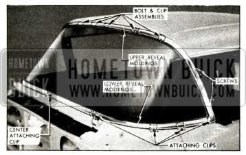 1957 Buick Windshield Clips