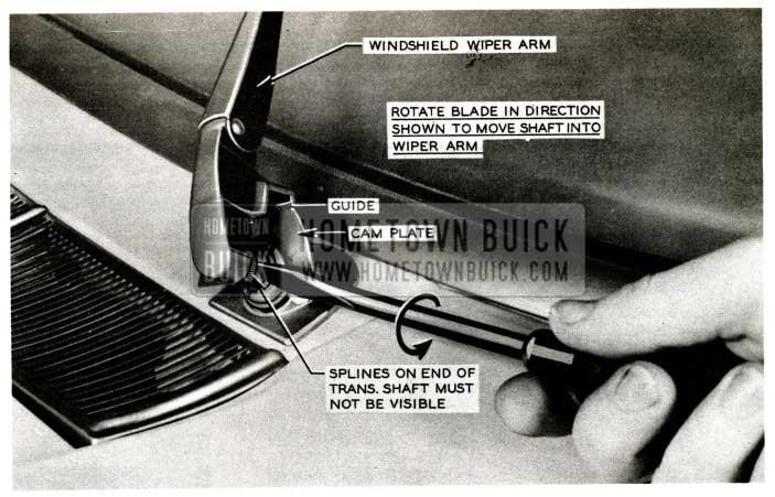 1957 Buick Windshield Wiper Arm Adjustment