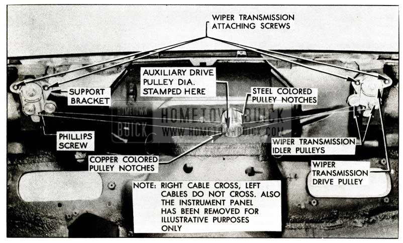 1957 Buick Windshield Wiper Transmission Attaching Screws