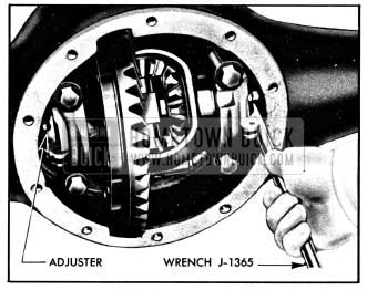 1950 Buick Adjusting Differential Bearings