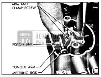 1950 Buick Adjusting Metering Rods