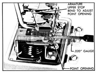 1950 Buick Adjustment of Cutout Relay Contact Point Opening