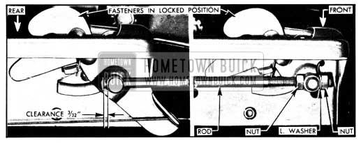 1950 Buick Adjustment of Hood Fastener Operating Rod