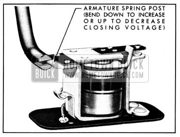 1950 Buick Adjustment of Horn Relay Closing Voltage