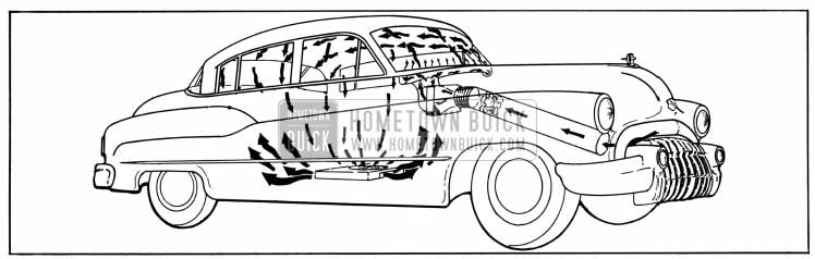 1950 Buick Air Circulation with Heater and Defroster