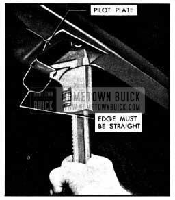 1950 Buick Bending Edge of Pilot Plate