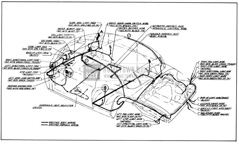 1950 Buick Body and Hydro-Lectric Wiring Circuit Diagram- Model 76R-Style 4737