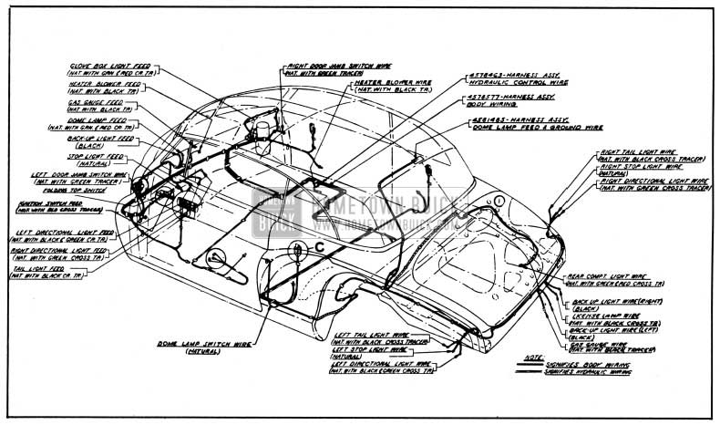 1950 Buick Body and Hydro-Lectric Wiring Circuit Diagram-Models 56C, 76C-Styles 4567, 4767