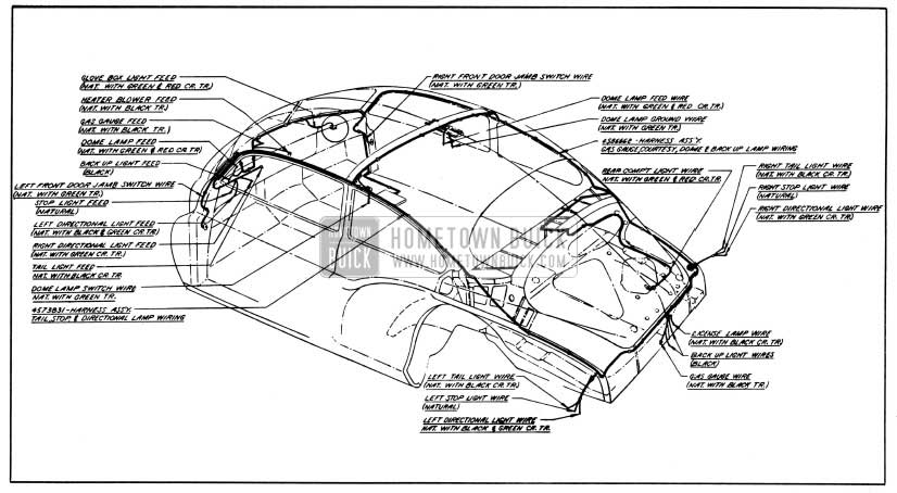 1950 buick wiring diagrams hometown buick 1950 buick body wiring circuit diagram models 46 46d 46r 56r