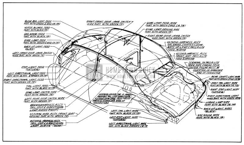 1950 Buick Body Wiring Circuit Diagram-Models 52, 72-Styles 4519, 4719