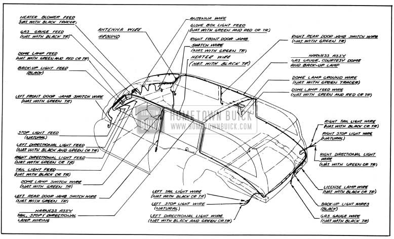 1950 Buick Body Wiring Circuit Diagram-Models 59, 79