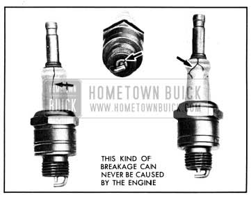 1950 Buick Broken Spark Plug Insulators