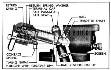 1950 Buick Carter Accelerator Vacuum Switch Correctly Assembled