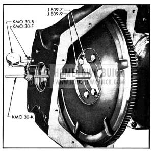 1950 Buick Checking Alignment of Flywheel Housing