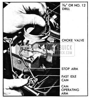 1950 Buick Checking Carter Choke Unloader Adjustment