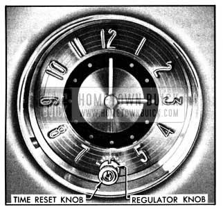 1950 Buick Clock Time Reset and Regulator Knobs