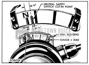 1950 Buick Gauge J 3085 Set for Timing the Neutral Safety Switch