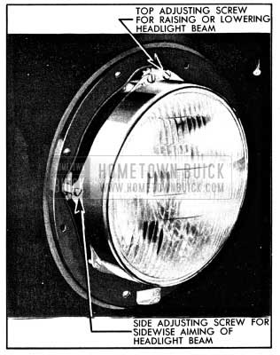1950 Buick Headlamp Aiming Adjustments