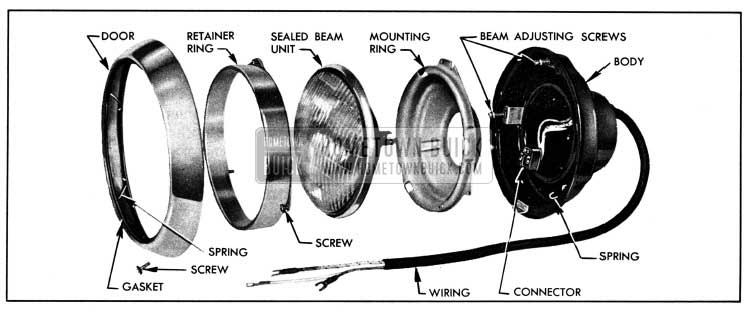 1950 Buick Headlamp Disassembled