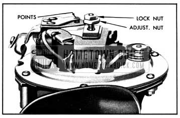 1950 Buick Horn Contact Point Adjustment