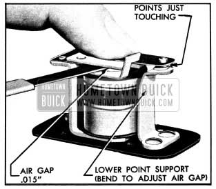 1950 Buick Horn Contact Point Adjustments
