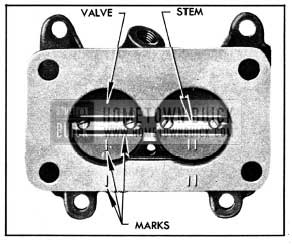 1950 Buick Identiflcation Marks on Throttle Valves