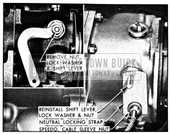 1950 Buick Installation of Neutral Locking Strap