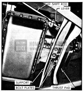 1950 Buick Left Side of Dynaflow Transmission Installation