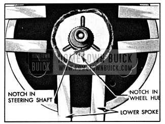 1950 Buick Location Marks on Steering Shaft and Wheel
