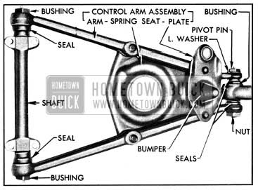 1950 Buick Lower Control Arm and Shaft Assembly