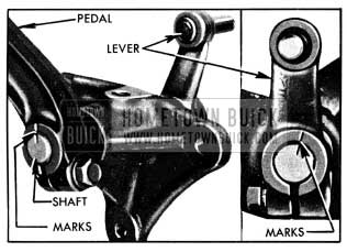 1950 Buick Marks for Installation of Brake Pedal and Lever on Shaft